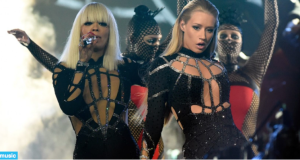 The Black Widow's Iggy Azalea and Rita Ora is a giant spider web