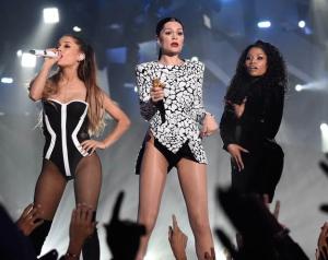 Talk about girl power! Ariana Grande, Jesse J and Nicki Minaj sing their smash hit 'Bang Bang'
