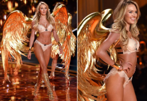 Candice Swanepoel opens the 2014 VS Fashion Show