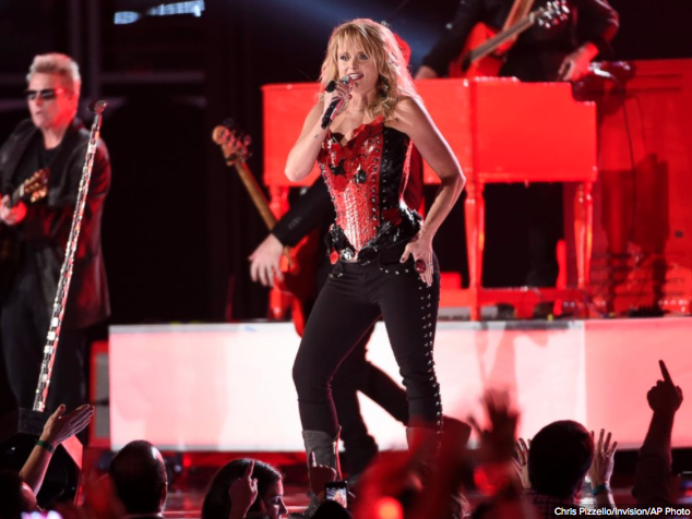 Miranda Lambert rocking out to 'Little Red Wagon' at the 2015 ACM Awards