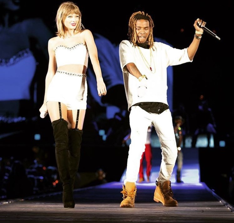 "Taylor Swift performing ""Trap Queen"" with Fetty Wap @TaylorSwift"