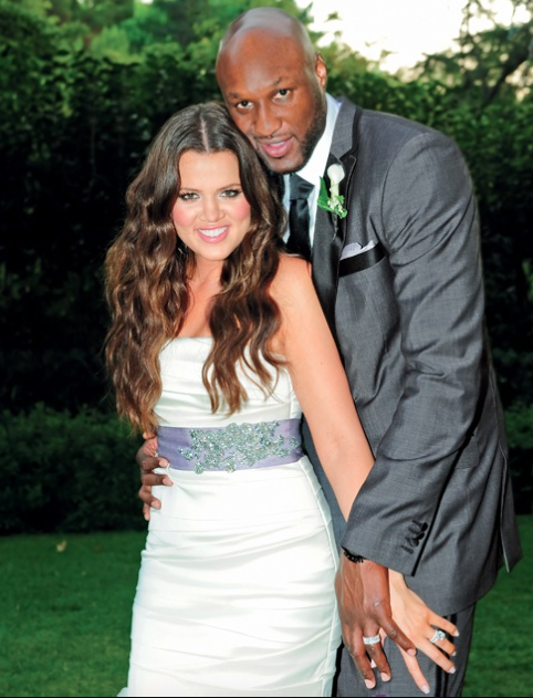 Happier times, Khloé and Lamar on their wedding day in 2009.